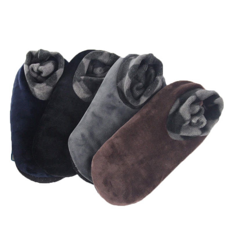 1pair Men Women Soft Fleece Socks Thicken Winter Warm Boot Socks 4 Colors Unisex Elastic Non Slip Indoor Floor Socks Slipper