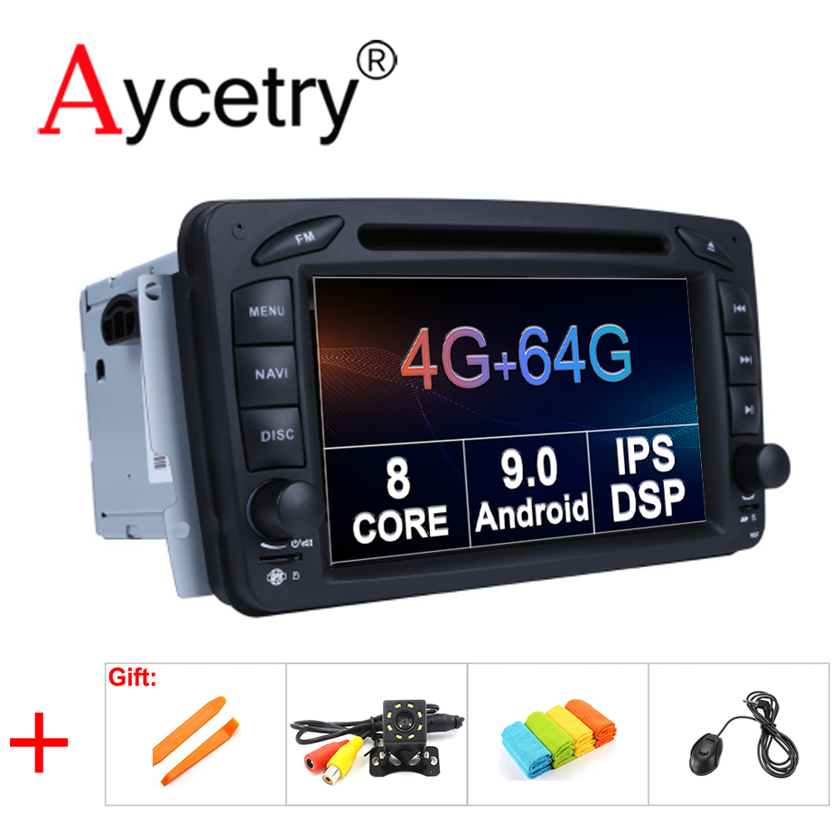 IPS DSP 4G 64G 2 din Android 9 Car Multimedia dvd gps For Mercedes Benz W209