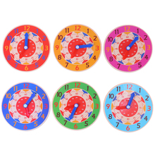 Wooden Clock Toys Teaching-Aids Montessori Early-Preschool Hour Kids Children for Second-Cognition