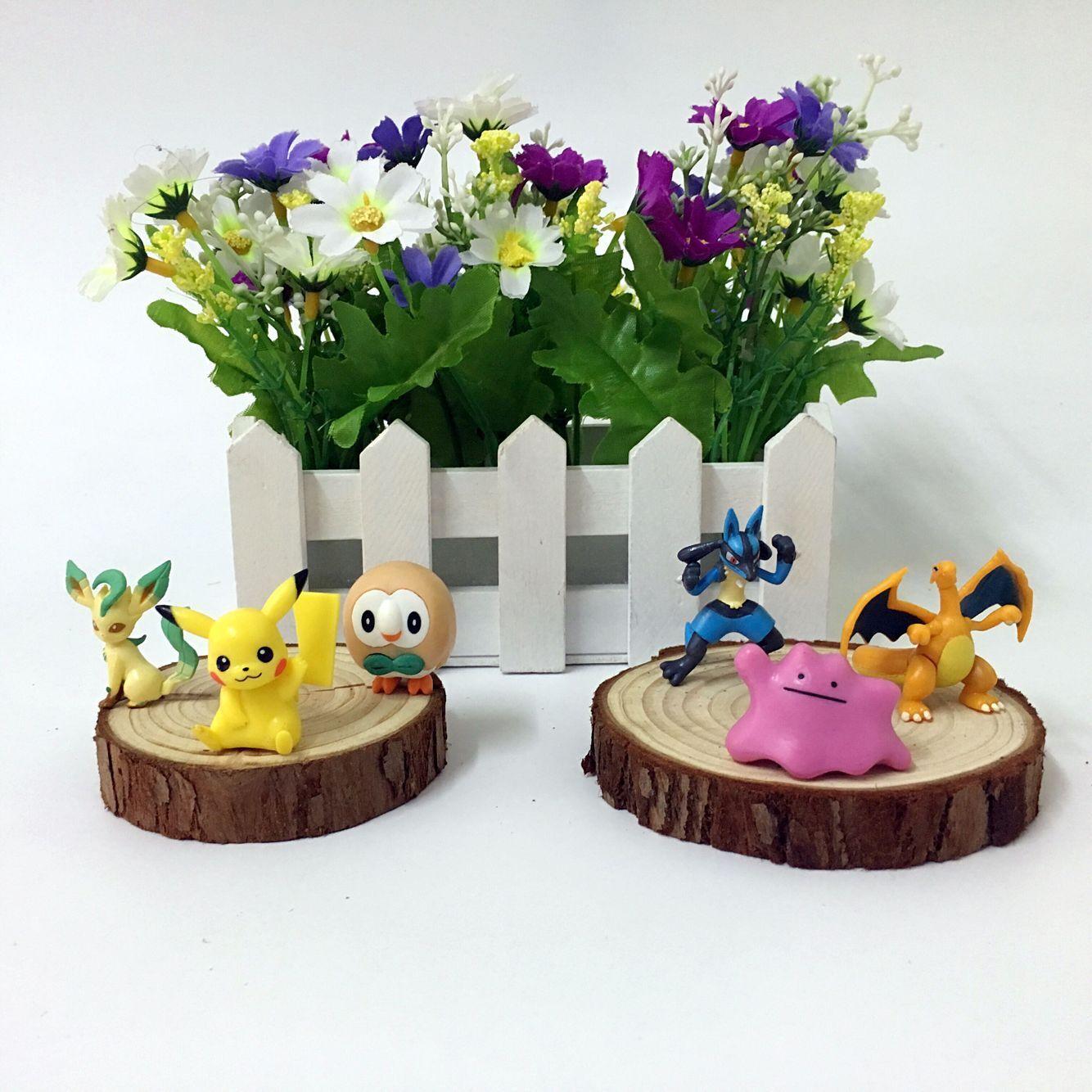 Takara Tomy Pokemon Charmander Popplio Litten Pikachu Rowlet Treecko Eevee Fennekin Greninja Аниме фигурки куклы игрушки