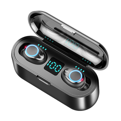 Bluetooth 5.0 Headset TWS Wireless Earphones Mini Earbuds Stereo Headphones F9 Pakistan