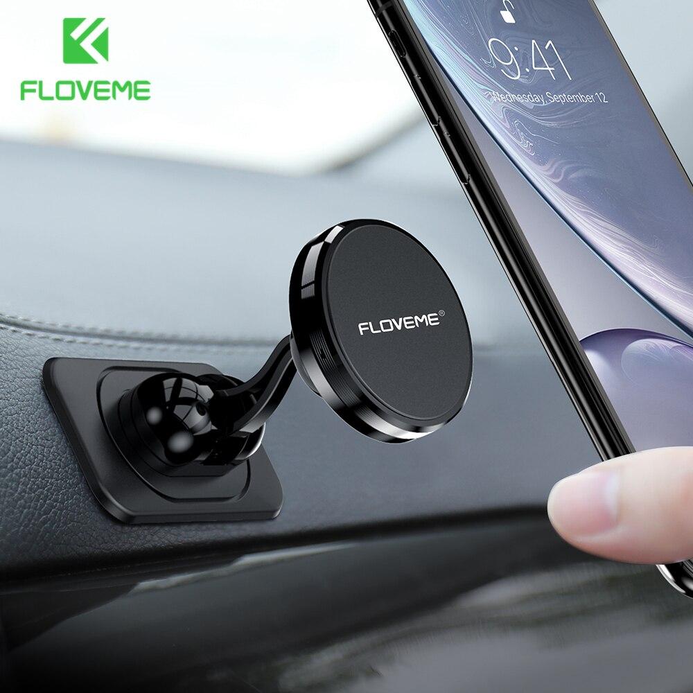 FLOVEME Car Phone Holder Magnetic Holder Magnet Phone Stand For IPad Tablet Car Holder Mobile Support Universal 360 Degree Mount