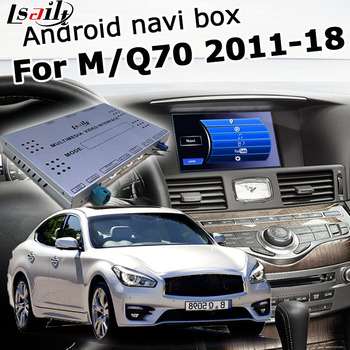 Android / carplay interface box for Infiniti Q70 / M25 M37 2012-2017 with Fuga QX50 QX60 QX70 QX80 GPS navigation by Lsailt image