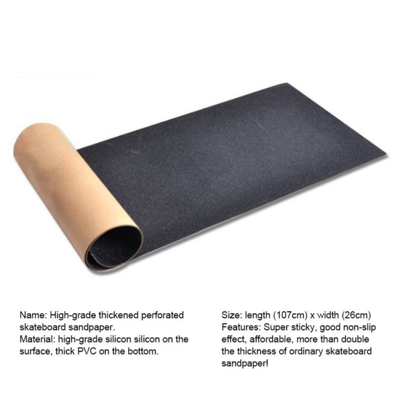 Skateboard Sandpaper PVC Professional Black Longboarding Viscous Strong Skateboard Board Deck Sandpaper For Skirting