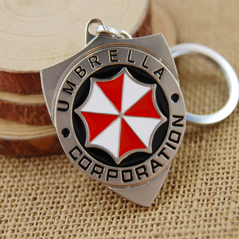 Science Horror Action Movie Residents Evils llavero брелок Thriller Movie Protective Umbrella Corporation Keychain Car Key Ring image