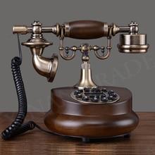 Teléfono fijo con cable de resina Antiguo Real teléfono fijo Digital Retro botón Dial Vintage teléfonos decorativos para la familia del hogar