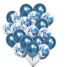20 pçs balões azuis casamento metálico balões decoração de aniversário batismo menino ballon bleu decoração aniversário balony criança festa globos