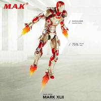 Collectible Full Set 1/12 Scale Comicave Iron Man MK42 Doll 6 Alloy MovableCollection Action Figure Model for Fans Gifts
