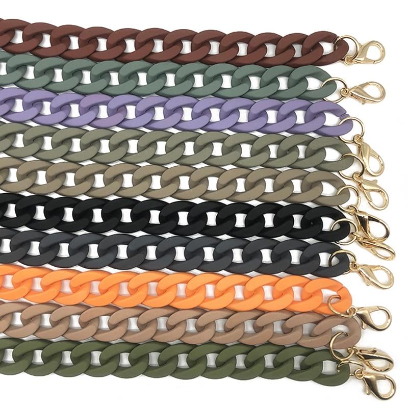 1Pc 60cm Detachable Bag Strap Acrylic Resin Handbag Chain Strap  Women Fish Bone Shoulder Strap Plastic Bags Accessories