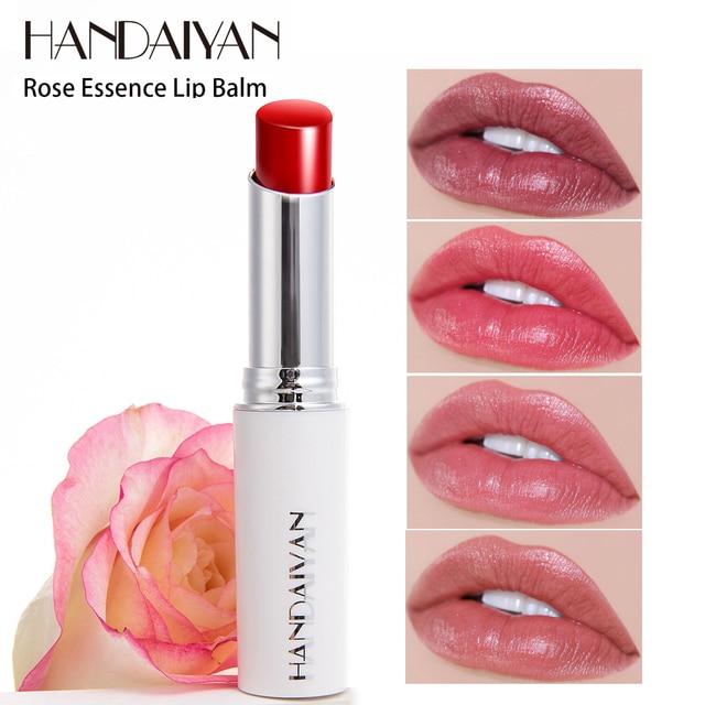 HANDAIYAN Chameleon Moisture Lip Balm Rose Lips Hyaluronic Acid Natural Lipbalm Temperature Change Color Nourish Makeup Lipstick
