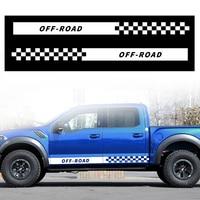 Pick up Truck Car Side Stripes Saias Laterais Gráficos Decalques Adesivos Para Ford Ranger F 350 F 450 F 650 4 × 4|Adesivos para carro| |  -