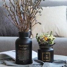 Creative Ins Wind Home Decoration Nordic Glass Vase Decor  Luxury Style Wedding Table Black White Vases