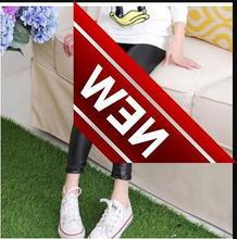 Spring Pants For Girls Artificial Leather Children And