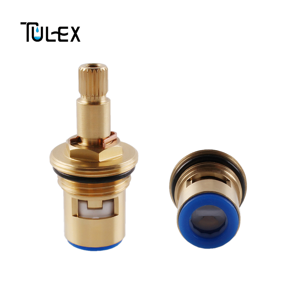TULEX Ceramic Disc Faucet Cartridge Spout High Standard Brass Replacement Part For Water Mixer Tap Inner Valve Core Quarter Turn