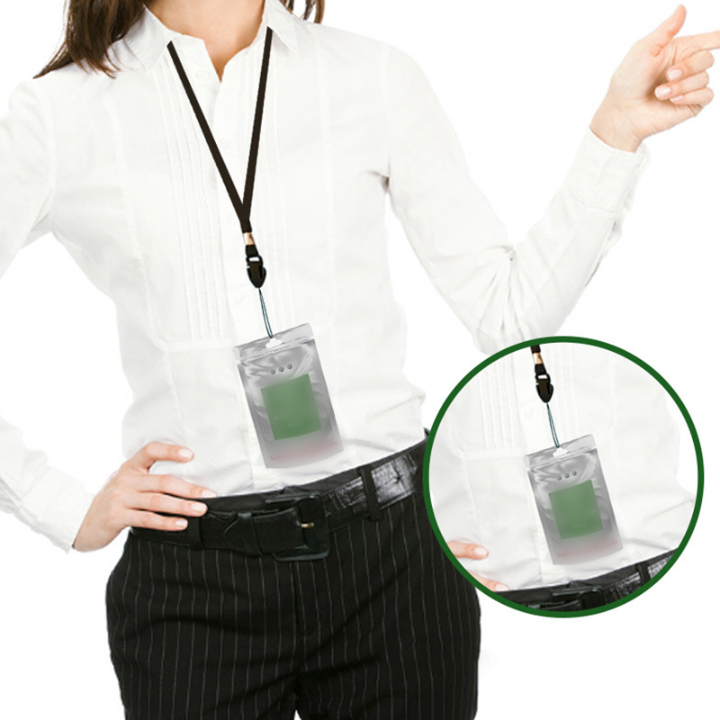 2PCS Portable Air Purification Card Lanyard Health Protection Easy To Store Consult A Doctor Sweaty Place