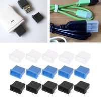 5Pcs USB Tipo A Maschio Anti-Spinotti e jack antipolvere Fermacorda e ganci Protezione Della Copertura Della Protezione 10166