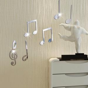 Оригинальные Стикеры, Съемные Виниловые художественные музыкальные нотки, настенные Стикеры, домашний декор, росписи, DIY наклейки, наклейки...