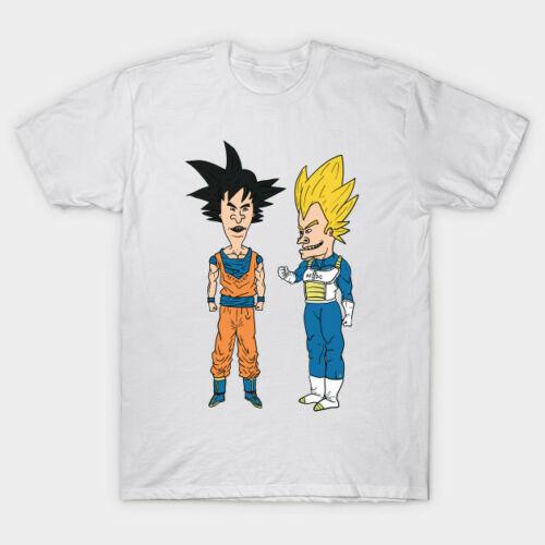 Beavis And Butthead x Dragon Ball Vegeta And Son Goku Funny White T-Shirt