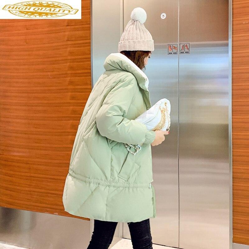 Women's Down Jacket 2020 White Duck Down Coat Winter Autumn Korean Puffer Overcoat Warm Womens Down Jackets KJ3720