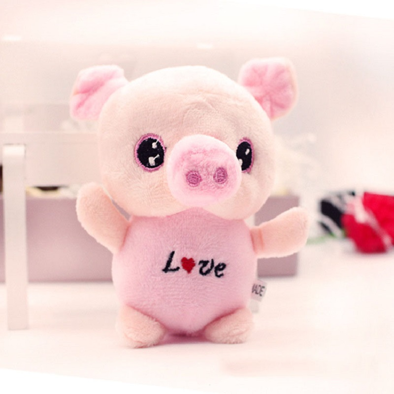 Children Plush Dolls Cartoon Kawaii Animal Big Eyes Pig Plush Toys Small Pendant Best Decoration Birthday Presents