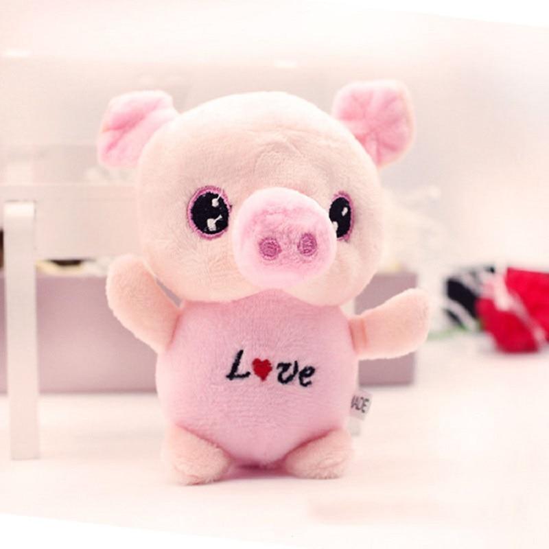 Children Plush Dolls Cartoon Kawaii Animal Big Eyes Pig Plush Toys Small Pendant Best Decoration Birthday Presents