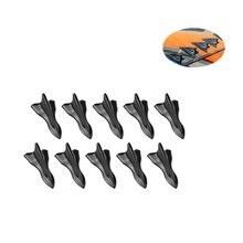 Universal EVO-Style Pu Rear Roof Shark Fins Spoiler Fin Diffuser Vortex Generator Car Bumper