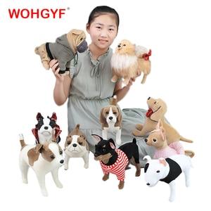 Kawaii Simulation Dog Plush Toy shar pei Chihuahua Bulldog Pet Dog Gift For Kids baby toy birthday present Stuffed Plush Toy(China)