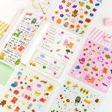 Новые яркие Медведь серии наклейки для скрапбукинга DIY Журнал недели альбом дневник Happy planner декоративные наклейки