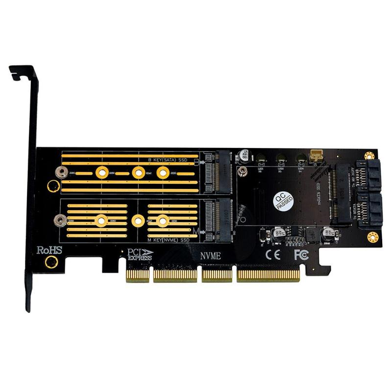 PCI-express 4X 8X 16X to PCI-e M.2 SSD Drive Adapter Board for AHCI and NVMe