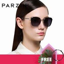 PARZIN damskie Okulary przeciwsłoneczne spolaryzowane eleganckie damy Vintage Okulary przeciwsłoneczne damskie do jazdy Okulary Gafas De Sol Okulary