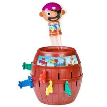 New Funny Pirate Barrel Toys Lucky Game Jumping Pirates Bucket Sword Stab Pop Up Tricky Toy Family Jokes For Child Kid Gift