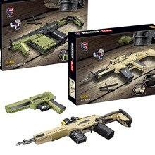 New High-tech Vector Mk14 Scar Desert Eagle Gun Model Building Blocks PUBG Military SWAT Weapon Bricks Toys for Children