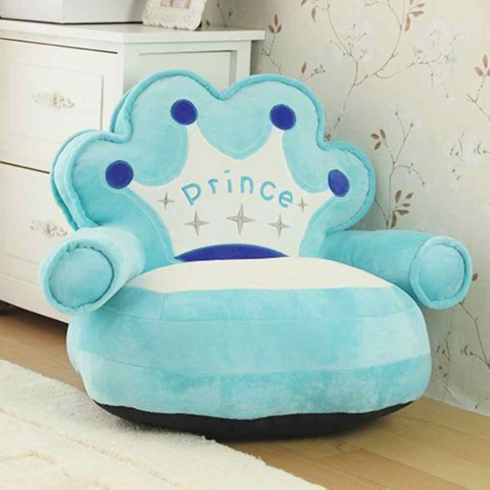 Bebek sandalyesi bebek koltukları kanepe kılıfı şişme koltuk karikatür taç yürümeye başlayan yuva puf koltuk çocuklar klozet kapağı çanta kılıfı doldurulmamış çocuk
