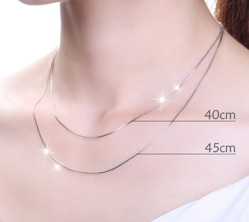 Big Sale[Fanqieliu 999 Real Silver Chain DIY Accessories Chains Necklace For Women 8 Style Sterling Silver Jewelry Necklaces FQL20002