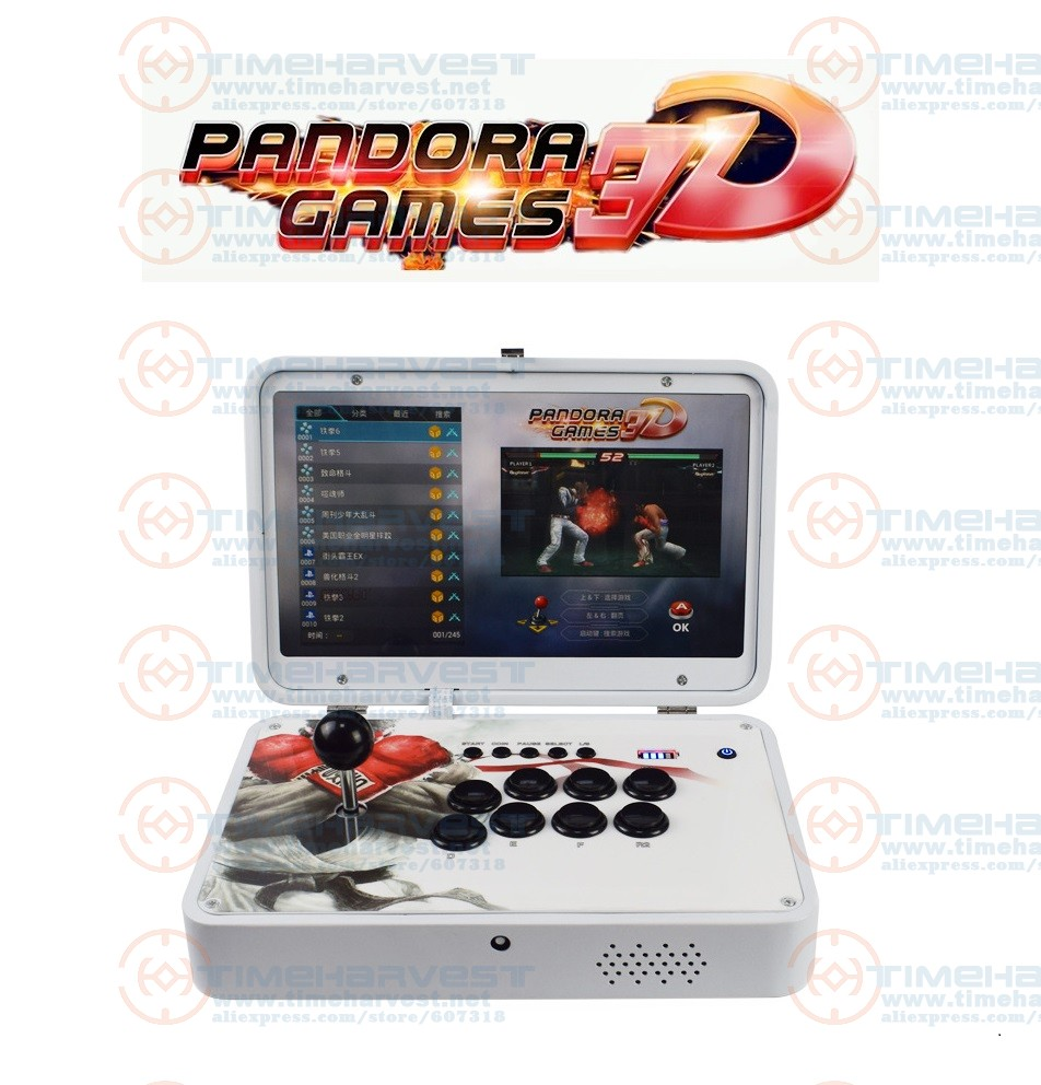 14 Inches IPS LCD Mini Arcade Portable Folding 2448 In 1 Pandora Games 3D WIFI 2 Players Arcade Multi Game Table Bartop Machine