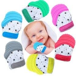 Amazon Лидер продаж Новые продукты Лидер продаж под открытым небом перчатками гуттаперчи для варежка-прорезыватель для зубов, детские товары ...