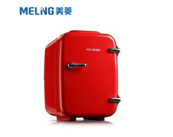 Meiling car refrigerator 4L small refrigerator car refrigerator car /home dual-use mini refrigerator small household red фото