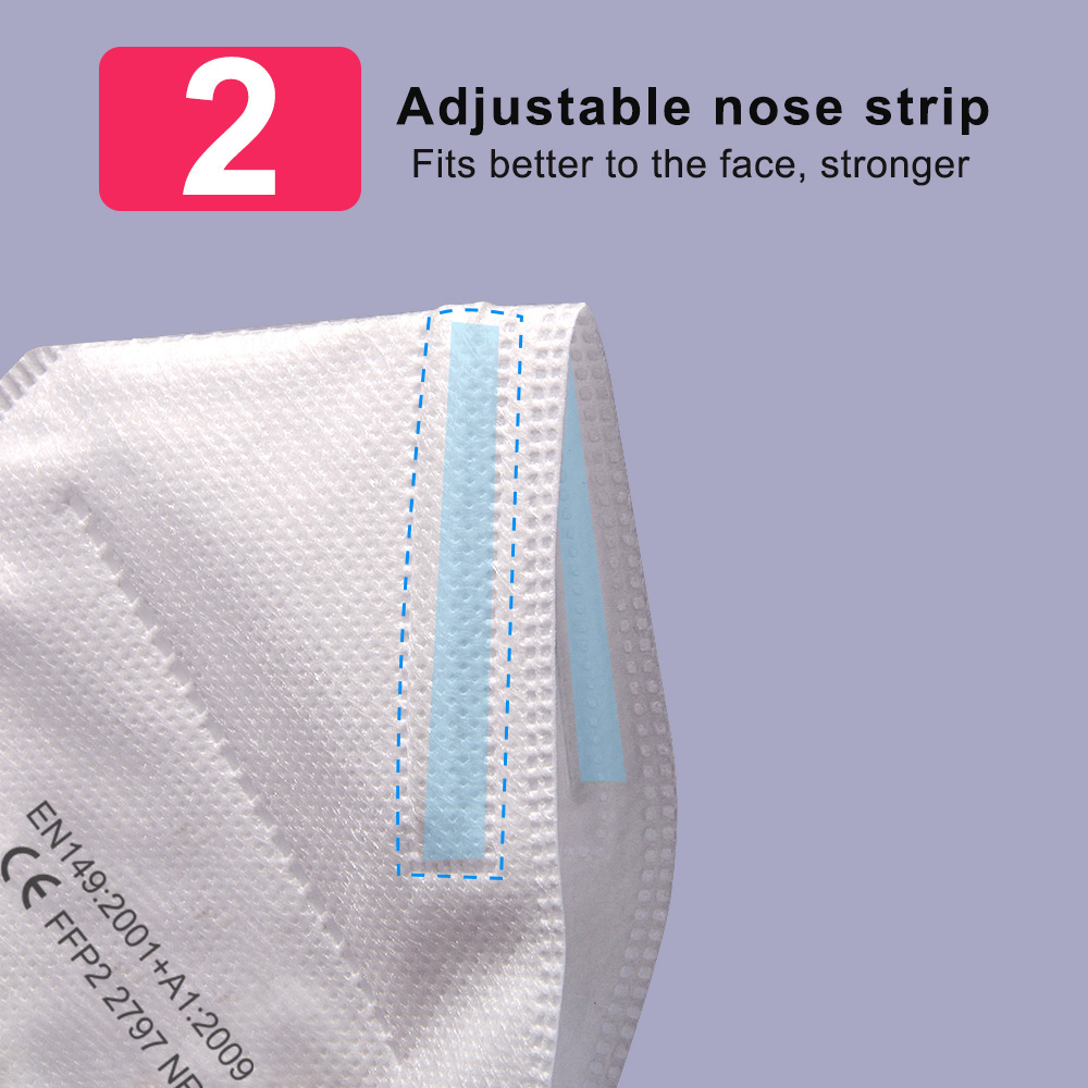 80pcs KN95 FFP2 Mouth Caps 5 Layers Filter Reuseable Anti-Droplets Face Masks Hygienic Approved Protective Mascarillas Tapabocas