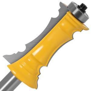 "Image 2 - Mitered door & drawer molding 2 비트 1/2 ""shank 12mm shank line knife 목공 용 커터 목공 공구 용 테론 커터"