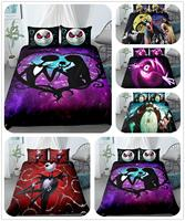 jake n sally nightmare before christmas children bedding set king queen double full twin single size bed linen set|Bedding Sets|   -