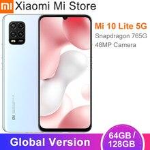Versão global xiaomi mi 10 lite 5g smartphone 6gb 64gb 6.57