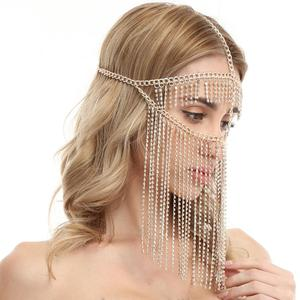 Image 5 - Belly Dance Headdress Mask Chain for Women   Venetian Mardi Gras Costumes Mask Ball Face Chain Jewelry for Nightclub Party