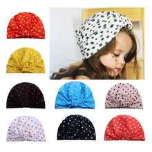 Baby hats Girls Dot Cotton Bohemia Caps Kids Children Turban Knot Bunny Ear India Hat Head Wraps Spring Beanie