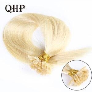 Волосы прямые машины сделаны Волосы Remy наращивание 0,8 г/шт. 50 шт./компл. прямые кератиновые для ногтей с u-образными клипсами для фиксации чел...