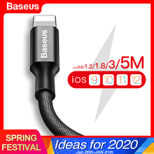 Baseus USB Cable For iPhone 11 Pro Max X XR XS 8 7 6 6s 5 5s iPad Fast Data Char