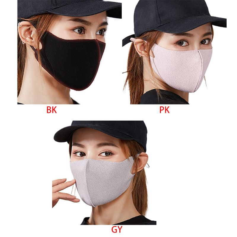Unisex Winter Double Layer Cotton Mouth Mask Washable Anti Dust 3D Respirator