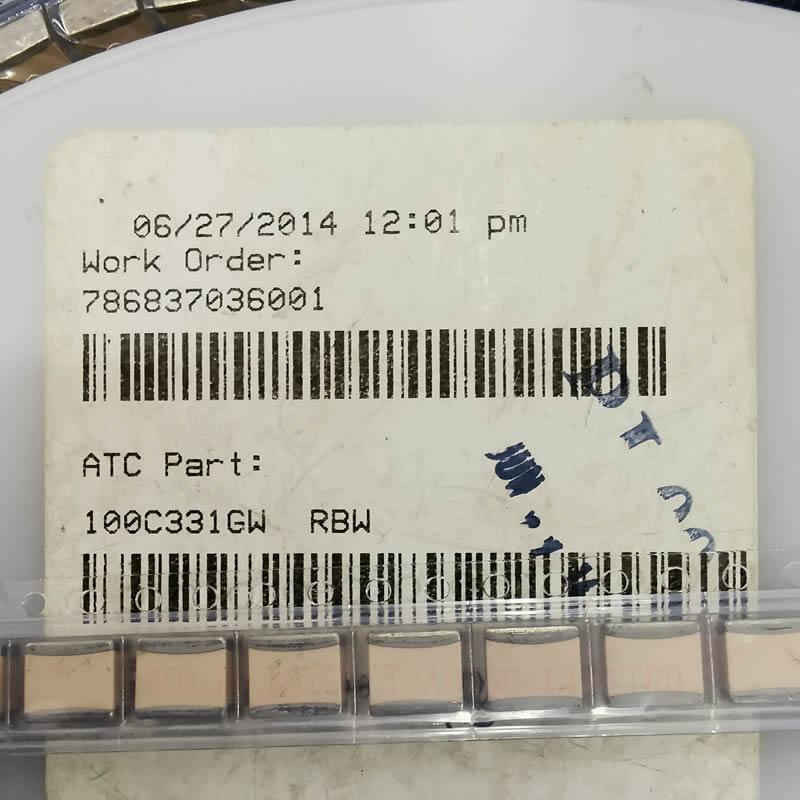 330pf 1500WVDC ATC100C331GW 330pF Porcelain High RF Power Multilayer Capacitors 1500VDC High Q ATC 330G A331G