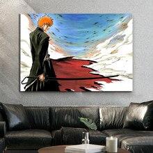 Kurosaki Ichigo eau de javel Anime affiche HD Art numérique peinture murale dessin animé photo peinture à l'huile personnalisé toile peinture