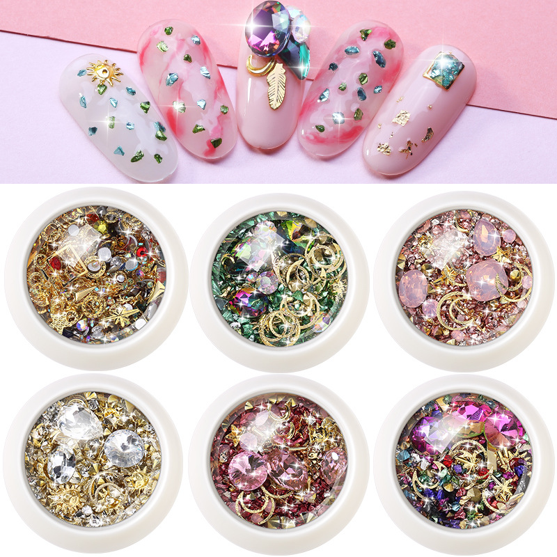 Micro-drilled Smashed Small Broken Diamond Crystal Sand Mixed Super Flash New York Storm For UV Resin Epoxy Mold Decoration