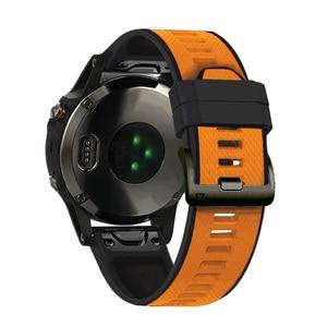 Image 2 - 26 22Mm Quickfit Horloge Band Strap Voor Garmin Fenix 6 6X Pro Siliconen Easyfit Polsband Fenix 5X Plus 3HR Smart Accessoires